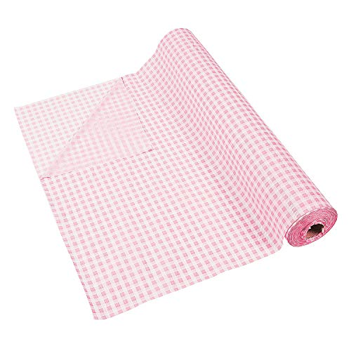 Pink Gingham Tablecloth Roll (100 ft)