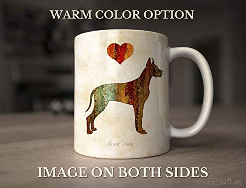 - Great Dane Dog Breed Mug by Dan Morris, Personalize with Dog Name