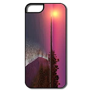 IPhone 5 Cover, Twilight Sunset Case For IPhone 5/5S - White/black Hard Plastic