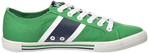 Helly Hansen Berge Viking Low, Zapatillas de Deporte Exterior para Hombre Verde / Blanco (270 Smaragd Green / Vulc. Whit)
