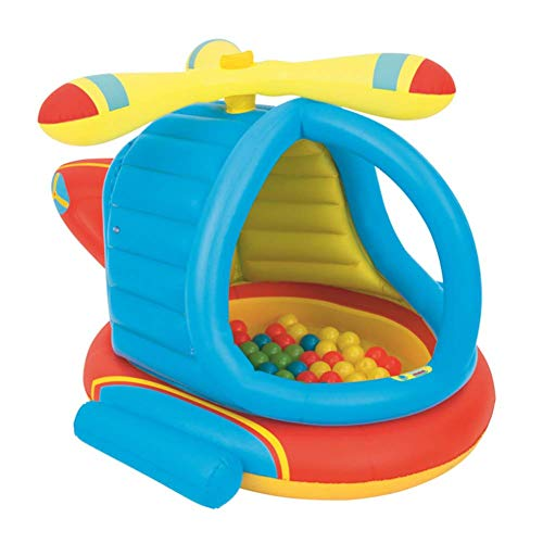 - Inflatable Kiddie Pools Paddling Pools Helicopter Shape Kids Play Center Sea Ball Pit Pool
