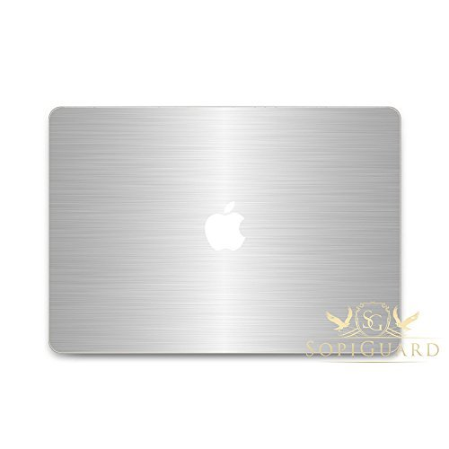 SopiGuard Brushed Orange Full Body Vinyl Skin for Apple Macbook Pro 13 Retina