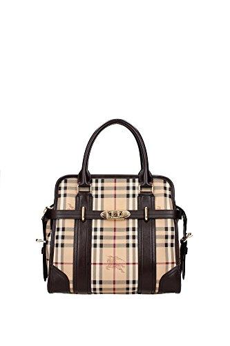 Hand Bags Burberry Women PVC Brown and Chuck Burberry 3857533CHOCOLATE Brown 12x26.5x29.5 cm