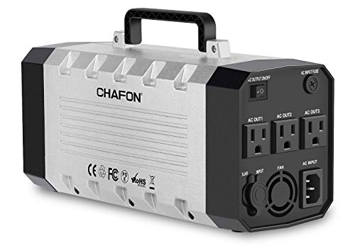 CHAFON Portable Generator 288WH UPS Battery Backup Pack Power Station with 110V/500W AC Outlet,DC 12V,USB Output for Camping,CPAP and Emergencies