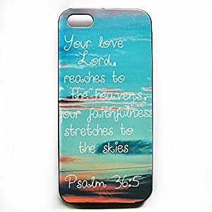 SJT Verse Phrase Pattern Hard Case for iPhone 4/4S