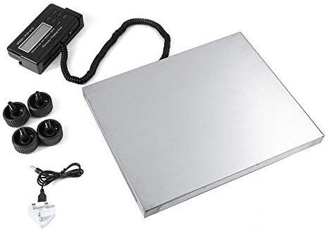 Báscula industrial báscula postal digital, plataforma impermeable de acero inoxidable, base con pantalla deportada, peso almacén 150 kg/0,05 kg, 300 kg/0,1 kg