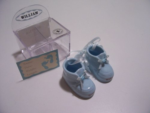 Personalized Porcelain Baby Boy Booties - Jack