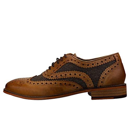 Tan tweed Tweed Lacets Brogues Ville Tan De Homme Pour Beige À Chaussures London zwUax47Uq