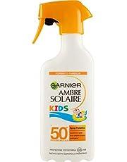 Garnier Ambre Solaire Crema Protezione Solare Latte Classico Kids, Idratante, Assorbimento Ottimo, IP50+, 300 ml, Confezione da 1