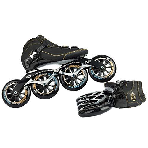 奨励群衆バケットLIUXUEPING ローラースケート、 スケート、 プロのスピードスケートシューズ、 レーシングシューズ、 炭素繊維熱可塑性樹脂 ビッグケーキのスケート 子供用ローラースケート (色 : 青, サイズ さいず : 37)