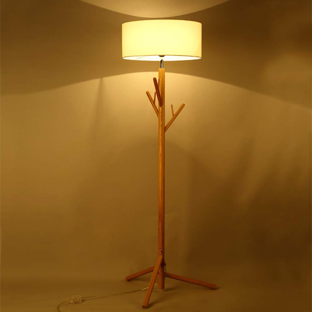Perchero Madera sólida Madera lámpara de pie, Adecuado para ...