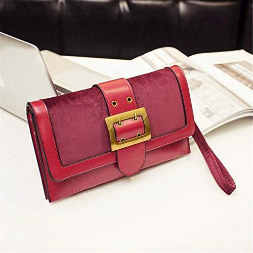 reia Red a Medium Ms Borse Wallet Ladies Classic Classic Chain Borsa Fashion On Pochette Size tracolla Suede SawdqaF