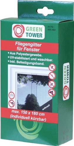 Fenster Fliegengitter 150 x 180cm anthrazit