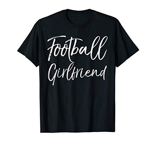 Football Girlfriend Shirt Cute High School Gift T-Shirt