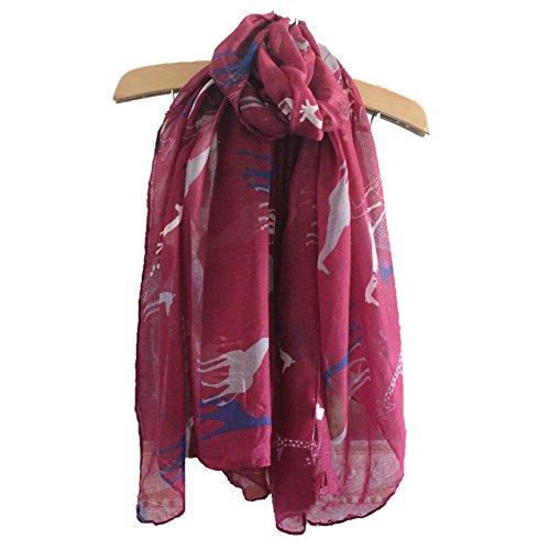 (P & R Women's Print Giraffe Scarves Shawl Large Size180*90cm Voile Soft Wraps)