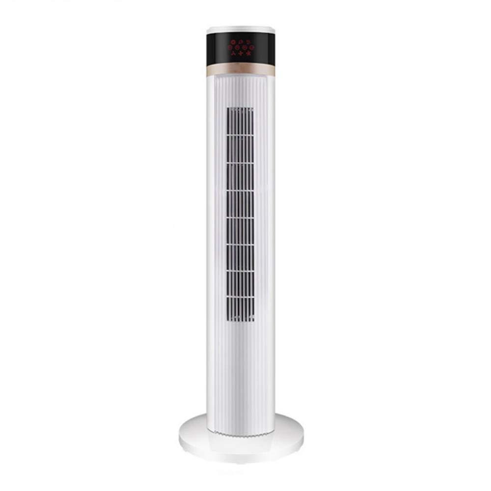 スリム扇風機、家庭用縦型リモコンリーフレスファン、超静音卓上揺れタイミング葉のない扇風機、ホワイト、103CM B07T2JD335