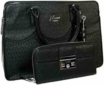 a931f60ce01 New Guess G Logo Purse Satchel Crossbody Hand Bag   Wallet Set 2 Piece Black