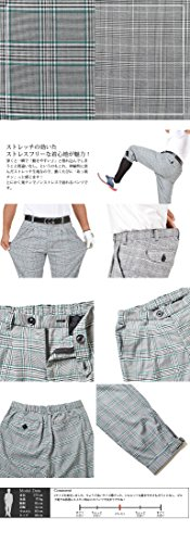 【コモンゴルフ】 COMON GOLF グレンチェック ニッカボッカーズ ストレッチ ゴルフ パンツ CG-17004L