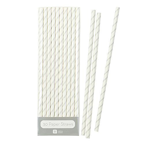 Talking Tables Mix and Match Disposable Drinking Straws (30 Pack), Silver]()