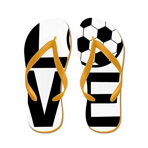 Cafepress Love Soccer - Flip Flops, Grappige String Sandalen, Strand Sandalen Oranje