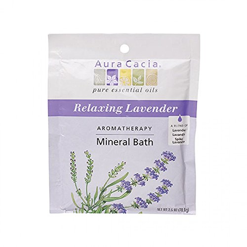 Aura Cacia Aromatherapy Mineral Bath, Relaxing Lavender, 2.5 ounce packet (Pack of 3) ()