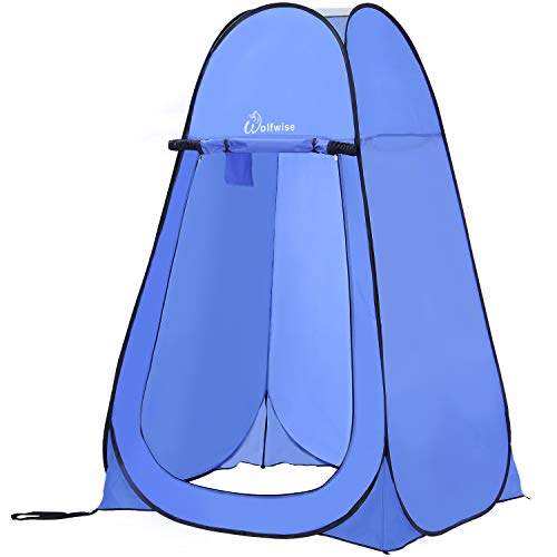 Zodi Shower - WolfWise Pop-up Shower Tent Blue