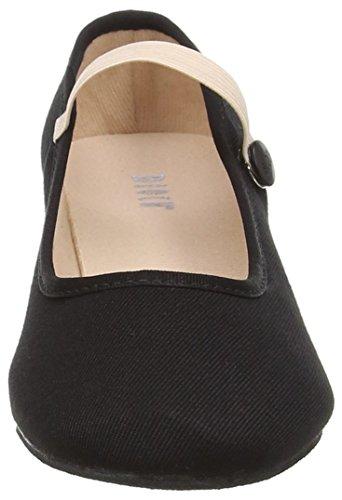 et de Femme Bloch Moderne Chaussures Noir Danse Canvas Jazz Tempo wUqwYgP