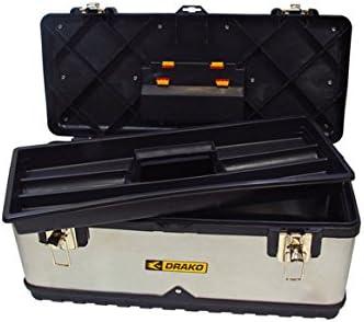 Drako M107660 - Caja herramientas inox-plastico 59 x 28 x 22 ...