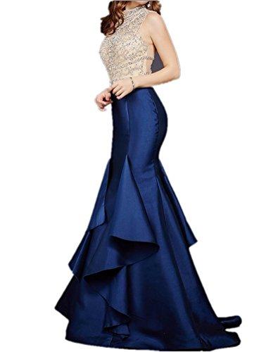 92b8a50f6a92 Tsbridal Beaded Mermaid Prom Dresses Royal Blue Formal Evening Party  DressXC163-16