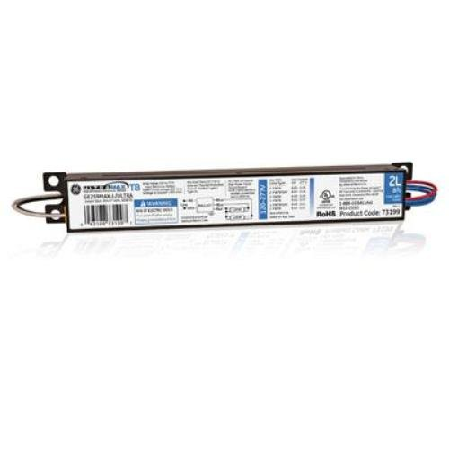GE Lighting 73199 GE259MAX-L/ULTRA 120/277-Volt UltraMax Electronic Fluorescent T8 Multi-Volt Instant Start Ballast 2 or 1 F96T8 Lamps ()