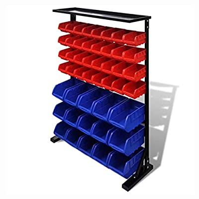 K&A Company Tool Cabinet & Chest, Garage Tool Organizer Blue & Red