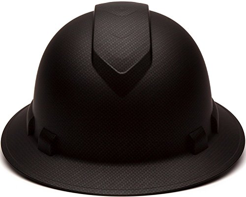 Full Brim Hard Hat, Adjustable Ratchet 4 Pt Suspension, Durable Protection safety helmet, Graphite Pattern Design, Black Matte, by Tuff America by Tuff America (Image #3)