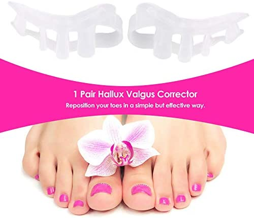 Tatapai Orthopädische Einlegesohlen 4 Löcher Gel Finger Zehenabscheiderprotector Divideradjuster Daumen Valgus Guard Feet Care Tool