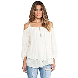 NOTE: Please compare the detail sizes with yours before you buy! You can use similar clothing to compare with the size. Specifications: Material:Polyester Clothing Length:Regular Sleeve Style:Off the Shoulder Style:Fashion Sleeve Length:Thr...