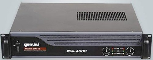 Gemini XGA Series XGA-4000 Professional Quality PA System DJ Equipment Power Amplifier with 4000 Watt Instant Peak Power