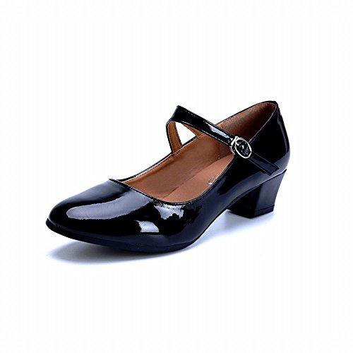 BYLE Baile Maestros Zapatilla de Modern con Onecolor Zapatos de Negros Latino Jazz los Zapatos Tobillo Sandalias Zapatos Cuero Samba rfAqrz