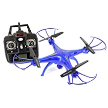 Syma X5SW Explorers2 2.4G 4CH 6-Axis Gyro RC Headless Quadcopter with Wifi Camera (FPV) - Tenergy Thunder Blue Deluxe Package with additional accessories