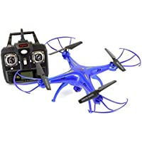 Tenergy Syma X5SW Explorers2 2.4G 4CH 6-Axis Gyro RC Quadcopter with 0.3MP Camera (FPV) Bundle with Additional Accessories, Blue Deluxe