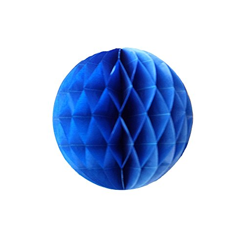 LG-Free 10Pcs DIY Handmade 8 inch Art Paper Honeycomb Balls Party Design Wall Decoration Flower Balls Hanging Pom Poms Party Wedding Birthday Nursery Home Decor (Blue Art Tissue Ball)