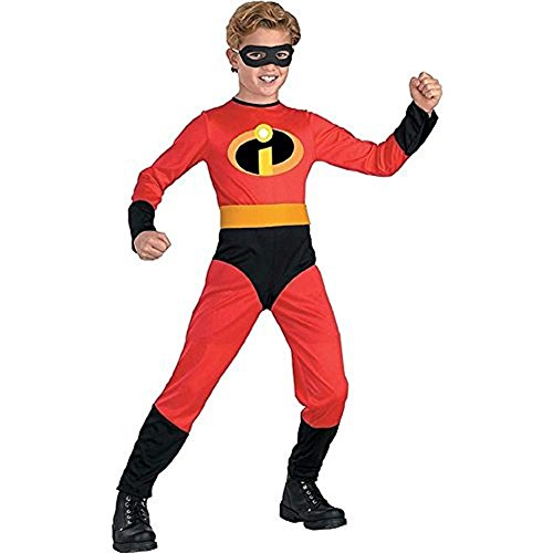 [Disguise Disney Incredibles Dash Classic Bodysuit Role Play Super Hero Costume (Small 3-4)] (Cool Halloween Costumes For Three Girls)