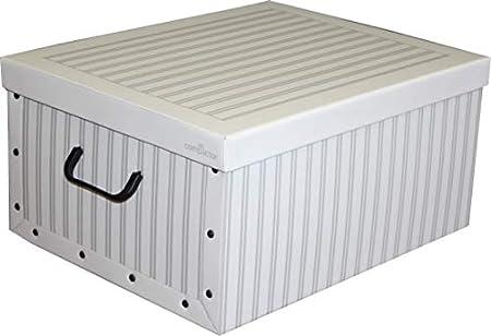 Compactor Anton - Caja de cartón de 50 x 40 x 25 cm, Color Blanco: Amazon.es: Hogar