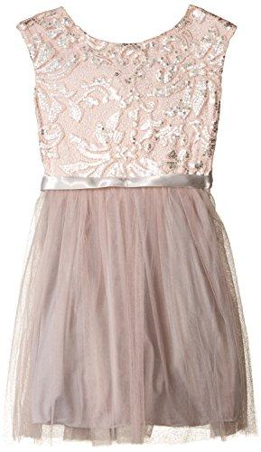 Speechless Big Girls' Sequined Brocade Party Dress, Blush, (Brocade Party Dress)
