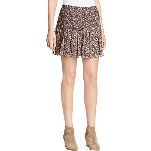 Joie Womens Silk Pintuck A-Line Skirt Multi S by Joie