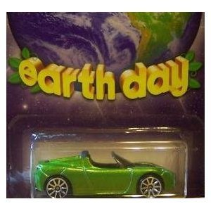 2010 Hot Wheels Earth Day Tesla Roadster Sport 1/64 Scale Collectible Die Cast Car
