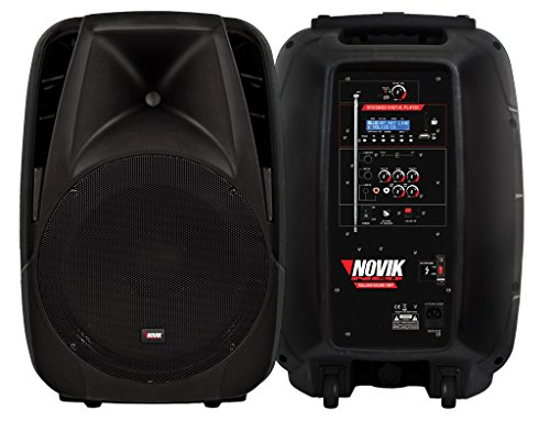 NOVIK NEO ROLLING SOUND 10bt 10 Inch 800 Watt 2 Way Battery Powered Bluetooth Speaker PA System with USB/SD Readers, Remote Control and VHF Microphone …
