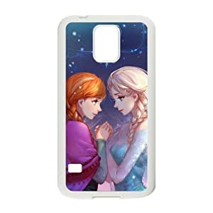 DAZHAHUI Frozen Princess Elsa and Anna Cell Phone Case for Samsung Galaxy S5