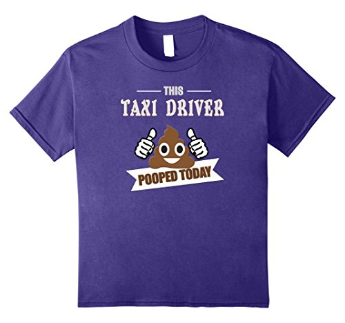 Taxi Driver Costume For Kids (Kids Taxi Driver pooped today, gift Cab driving cabby funny shirt 12 Purple)