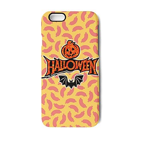 Vekq iPhone 6 plus/6s Plus Case Happy Halloween Bat Pumpkin Art Shock Absorption TPU Back Cover Compatible with iPhone 6 plus/6s Plus ()