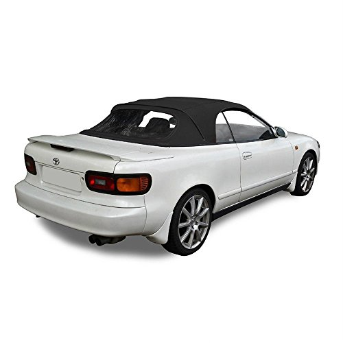Compatible With Toyota Celica 1991-1993 Convertible Soft Top & Plastic Window Black Pinpoint Vinyl ()