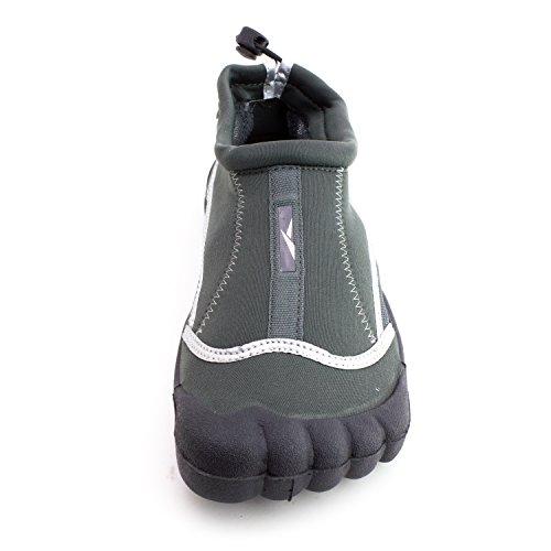 Ics Scii Mens Outdoor Beach Pool Creek Aqua Toe Water Shoes (adulti) Grigio
